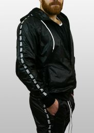 ruff GEAR Scally Tape Trackie Top Black White