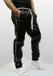 ruff GEAR Fetish Tape Trackie Bottoms Black White
