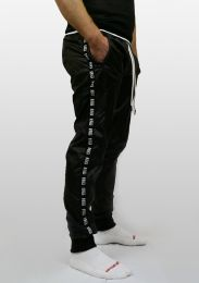 ruff GEAR Scally Tape Trackie Bottoms Black White