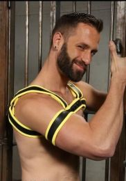 Mr S Leather Neoprene 2.0 Armband Yellow